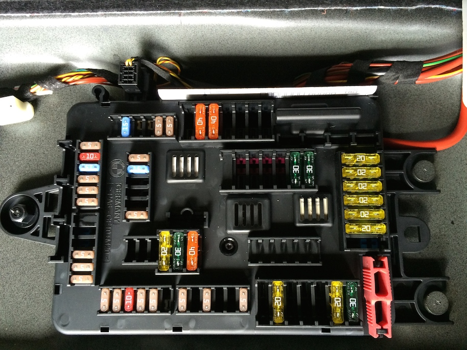 Fuse Box Location F30 335i Jan 2013 build.