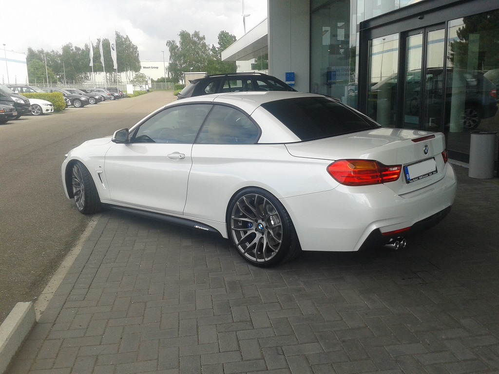 Bmw F33 M Sport Mineral White M4 Conversion With Oem Parts