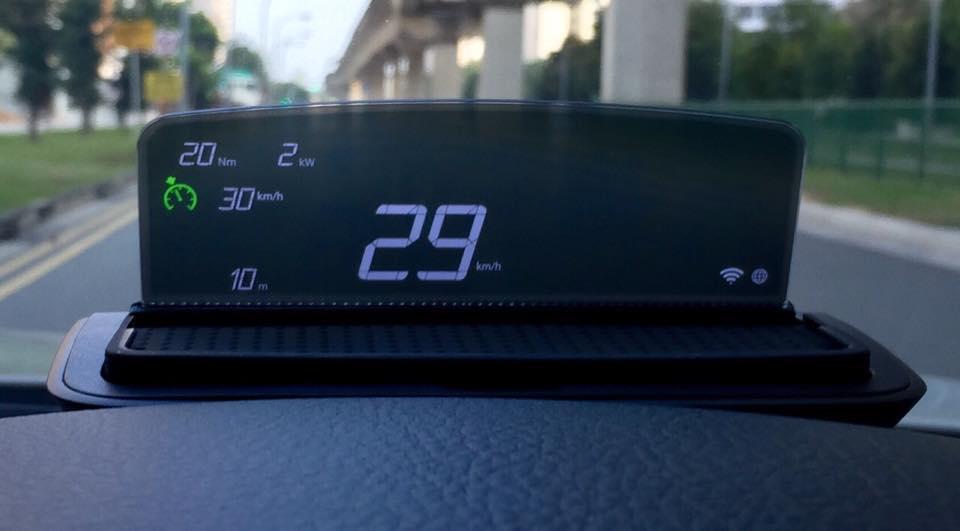 BMW Head Up Screen retrofit (new accessory) (BMW part # 62