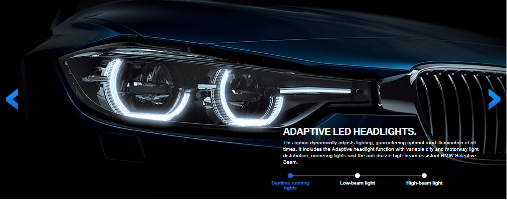 How to tell if LED headlights are adaptive? - BMW 3-Series