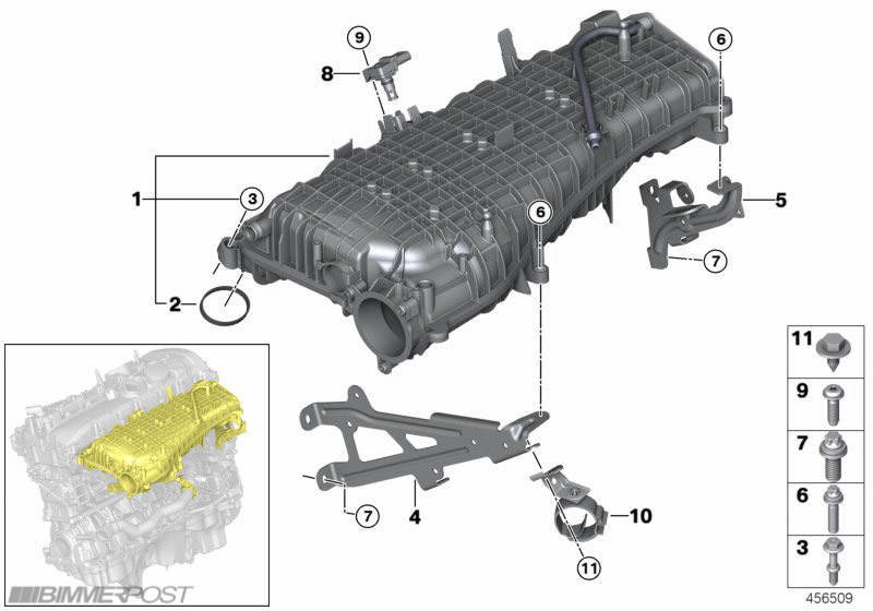 B58  340i  Engine Technical Drawings And Details