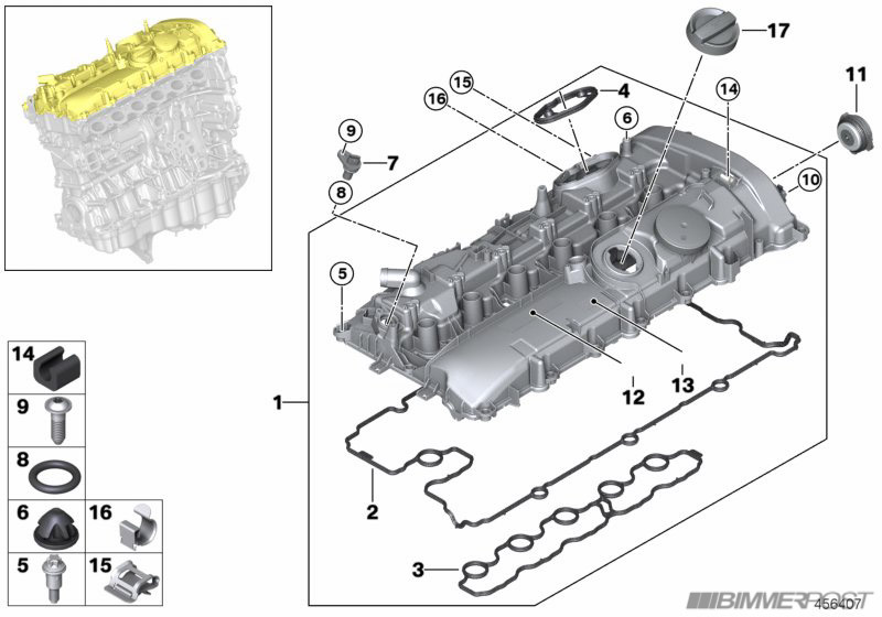 B58 (340i) Engine Technical Drawings and Details - BMW 3