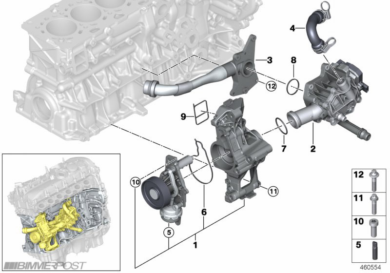 b58 340i engine technical drawings and details bmw b58 7 coolantpump jpg views 30131 size