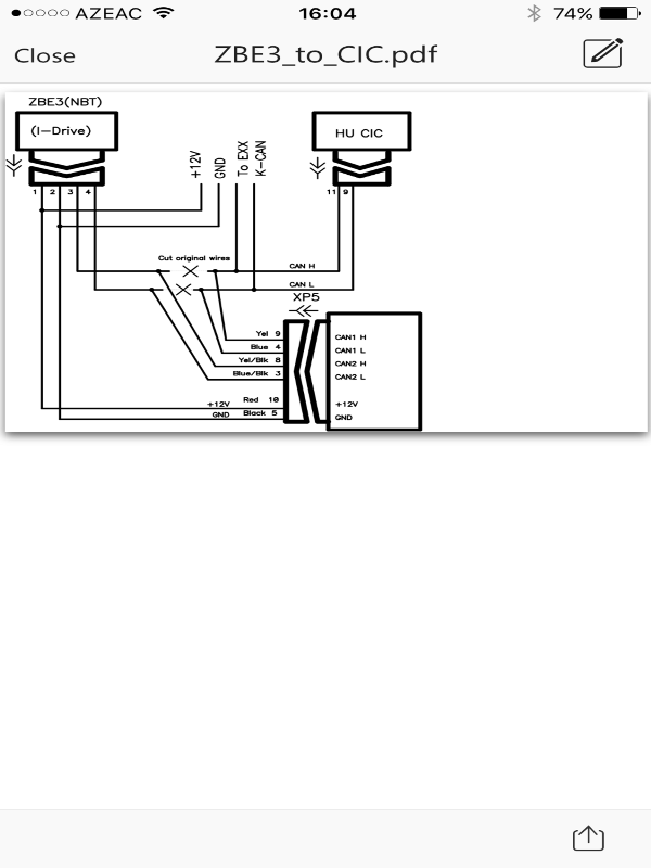 nbt idrive controller with cic., Wiring diagram