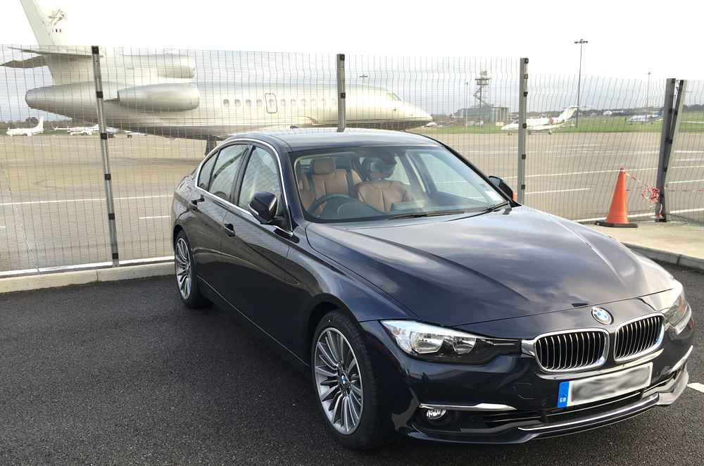 "F30 330d LCI (2015) ""Luxury"", Imperial Blue/Saddle Brown"