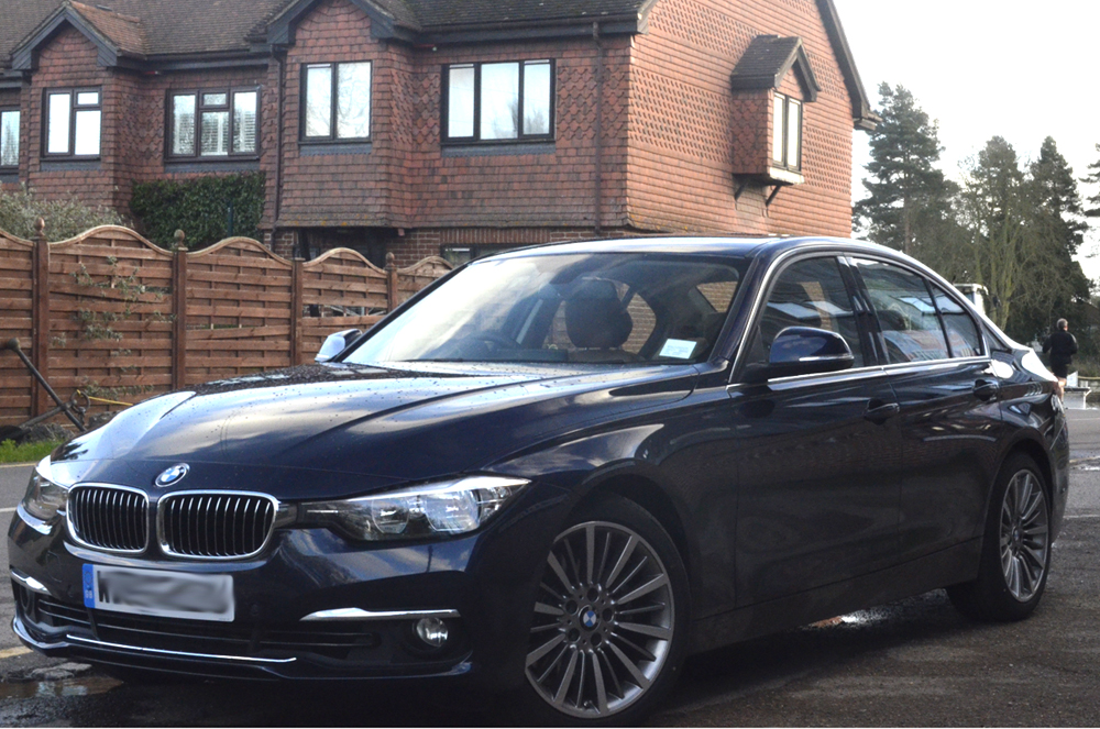 """F30 330d LCI (2015) """"Luxury"""", Imperial Blue/Saddle Brown"""