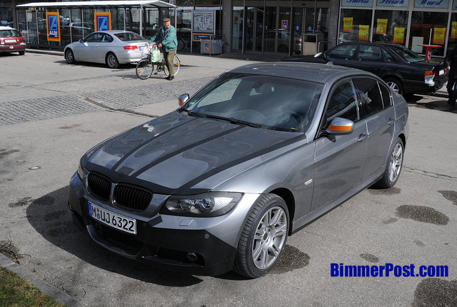 First spyshots of facelift E90 M-tech sedan in Space Gray! - BMW 3-Series