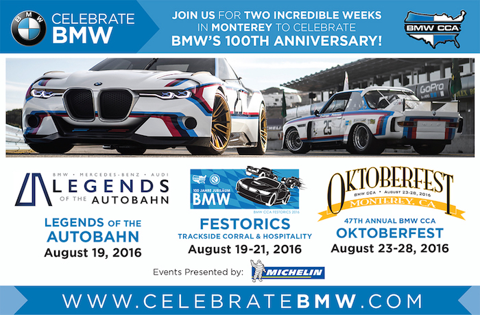 Celebrate Bmw S 100th Anniversary For 2 Weeks With The Bmw Cca In Monterey