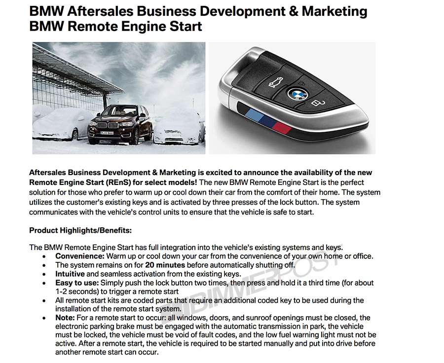 Remote Start Is Finally Here Bmw 3 Series And 4 Series Forum F30 F32 F30post