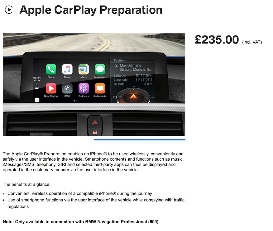 Apple CarPlay Preparation