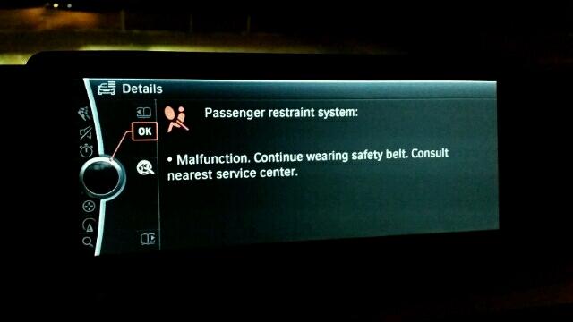 Passenger Restraint System Malfunction