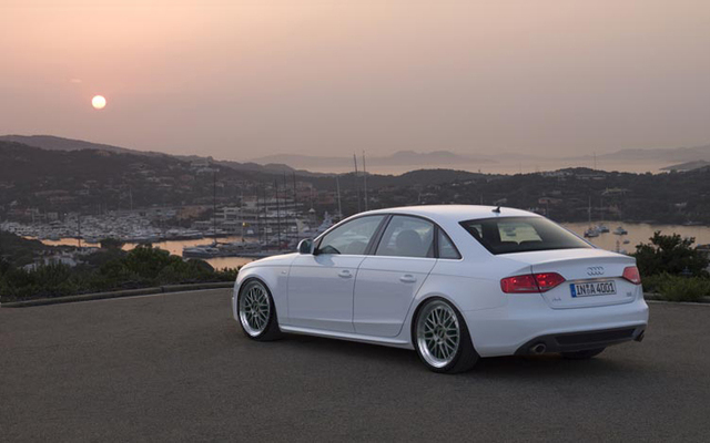 2009 Audi A4 In White Lowered With Bbs Lms