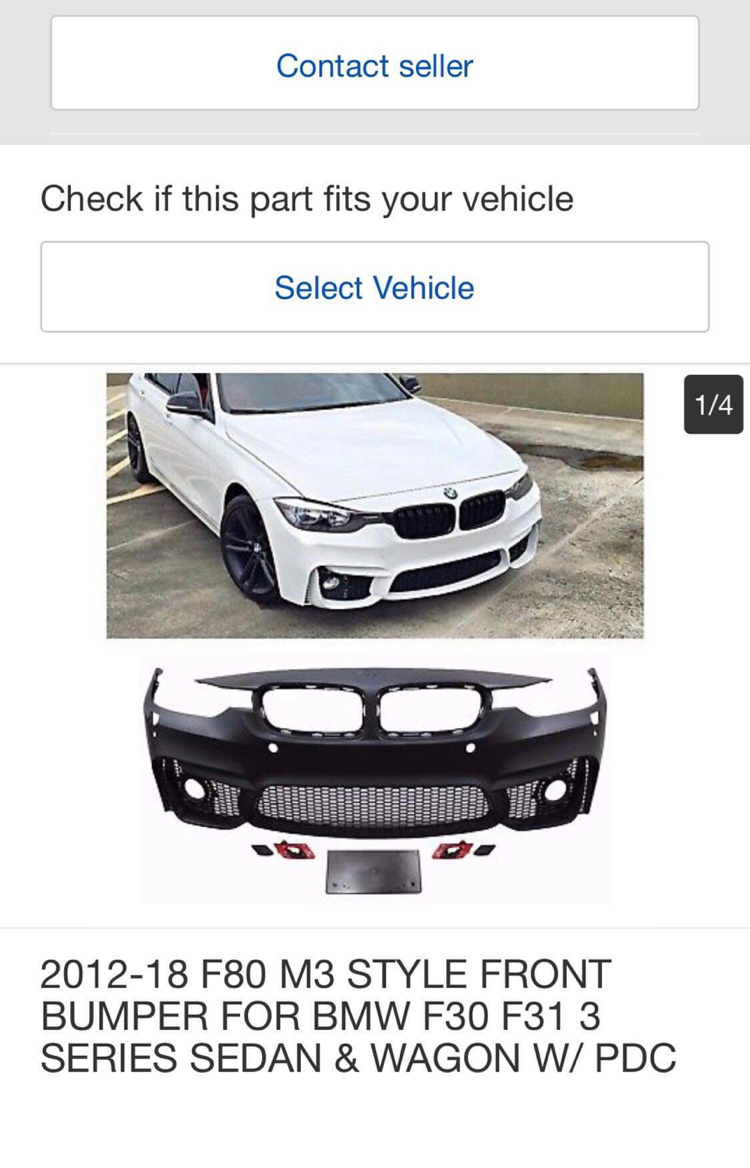 2012-18 F80 M3 STYLE FRONT BUMPER FOR BMW F30 F31 3 SERIES SEDAN /& WAGON W// PDC