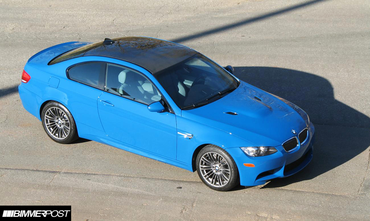 Laguna Seca Blue E92 M3 Coupe