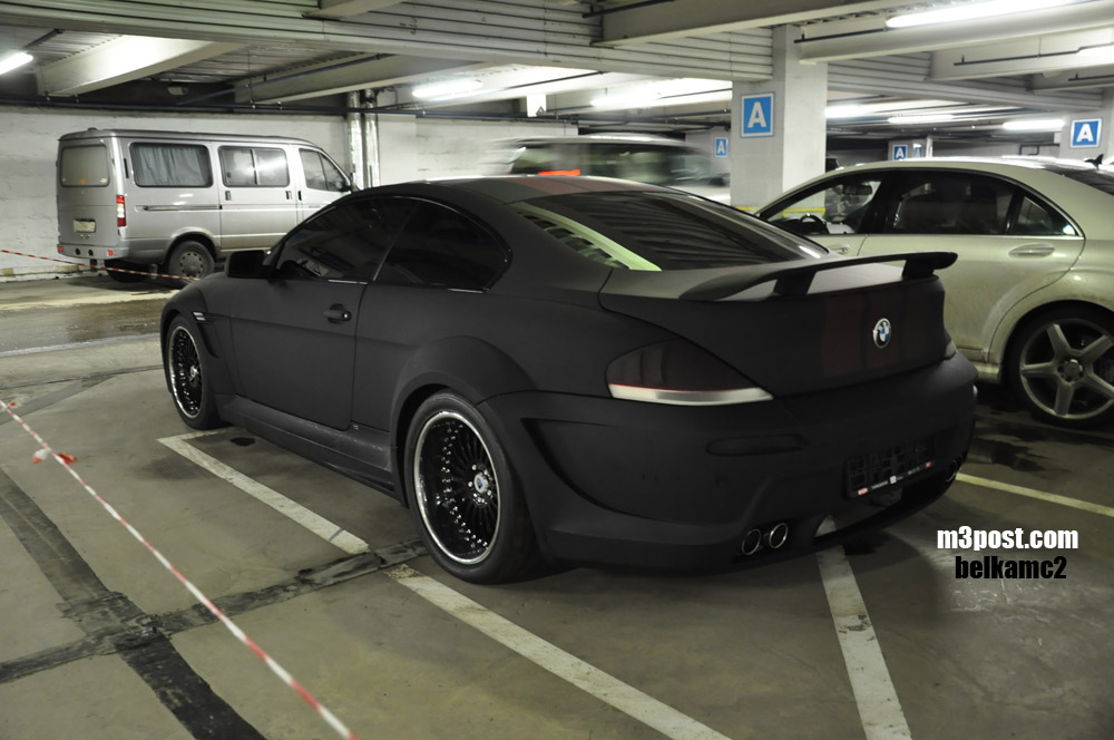 Cool Matte Black Bmw 6 Photos