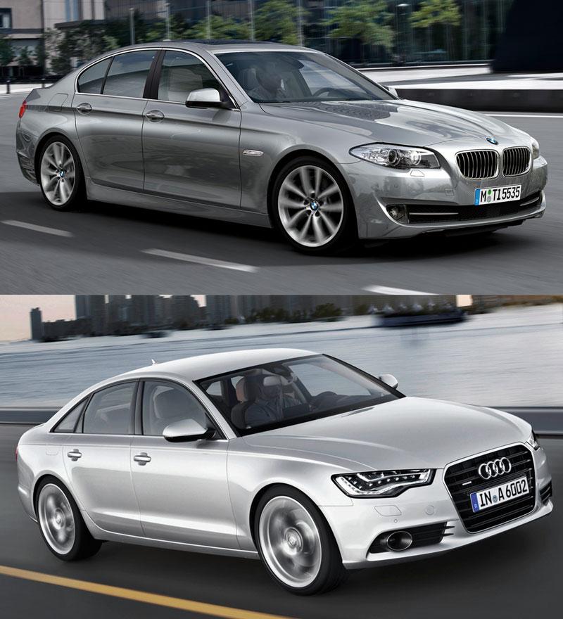 Vertaillen: Uusi Audi A6 Vs F10 5-sarja