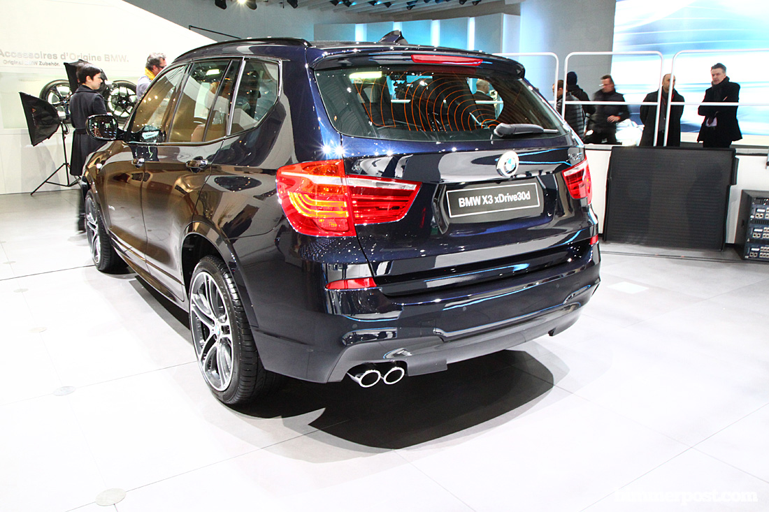 BMW X3 xDrive30d M-Sport в цвете Deep Sea Blue Metallic