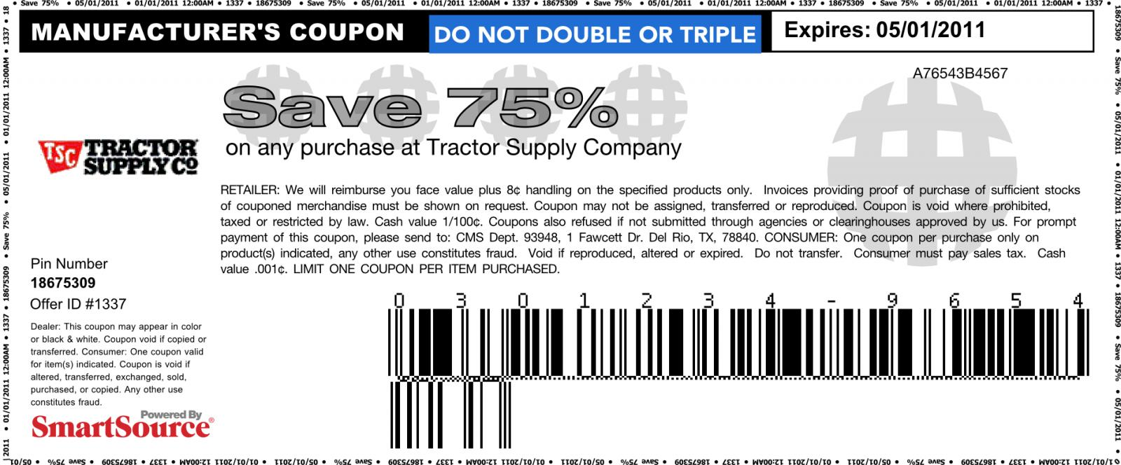 Discount supply coupon