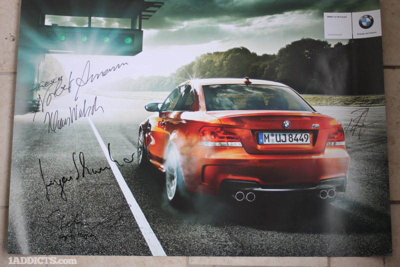 As a parting gift, the whole Engineering staff for the 1M signed a Dealer Poster for the 1M as a gift to take home.