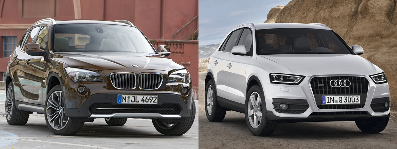 bmw x1 vs audi q3 photo shootout xbimmers bmw x1 autos weblog. Black Bedroom Furniture Sets. Home Design Ideas