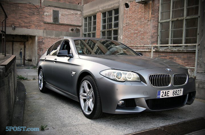 First Look At Frozen Gray F10 5 Series 535i