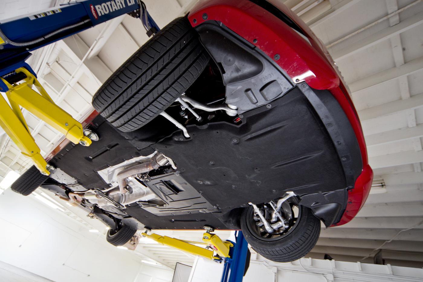 Edmunds Inside Line F30 328i Underbody Photos