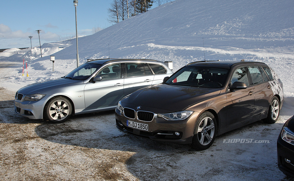 BMW F31 Touring Spotted Against E91 Touring - BMW 3-Series