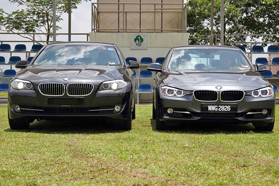 Bmw f30 vs f10 real life comparison photos