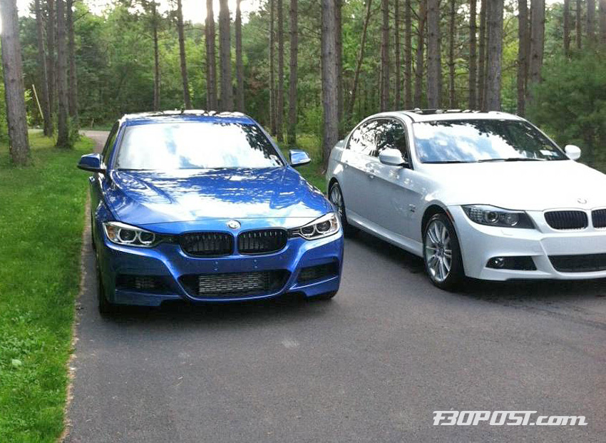 real life photo comparison f30 m sport versus e90 lci m sport. Black Bedroom Furniture Sets. Home Design Ideas