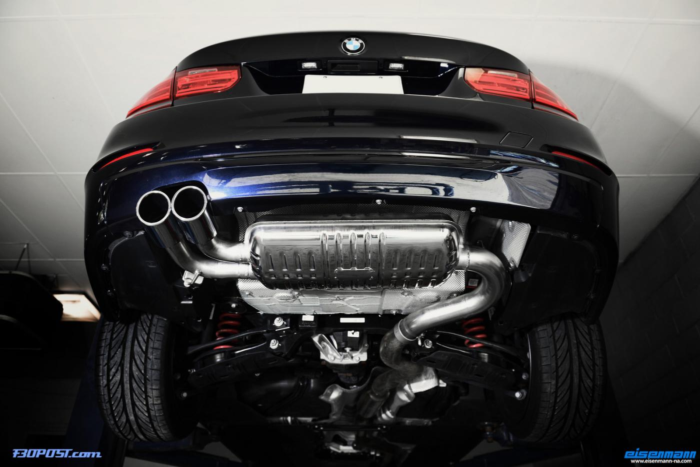 F30 328i Eisenmann Race Exhaust Installed Photos And Video