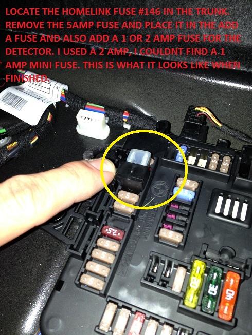 f30 radar detector hardwire diy