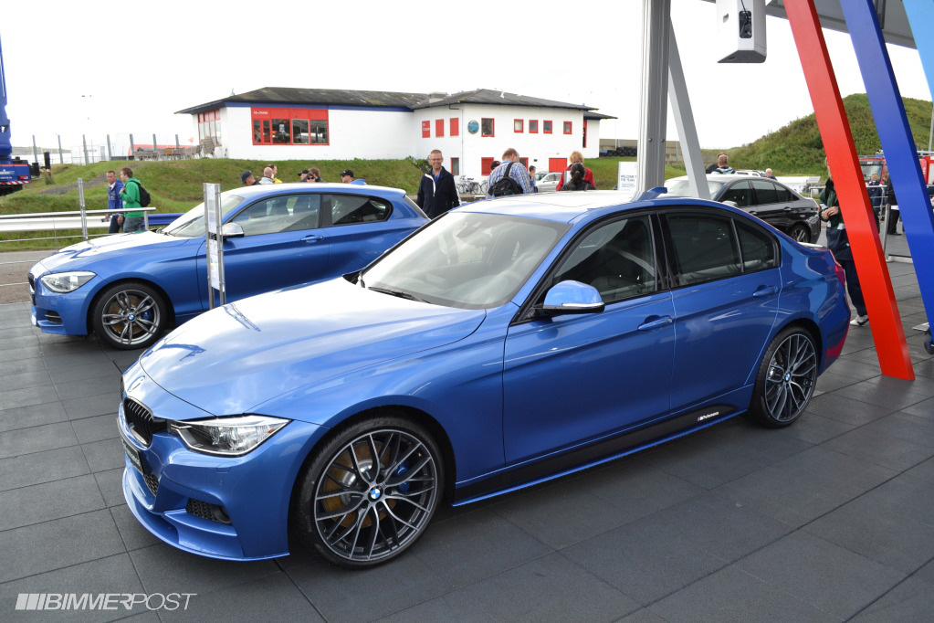 BMW M Performance Parts on Estoril Blue and Mineral Grey F30 3 Series