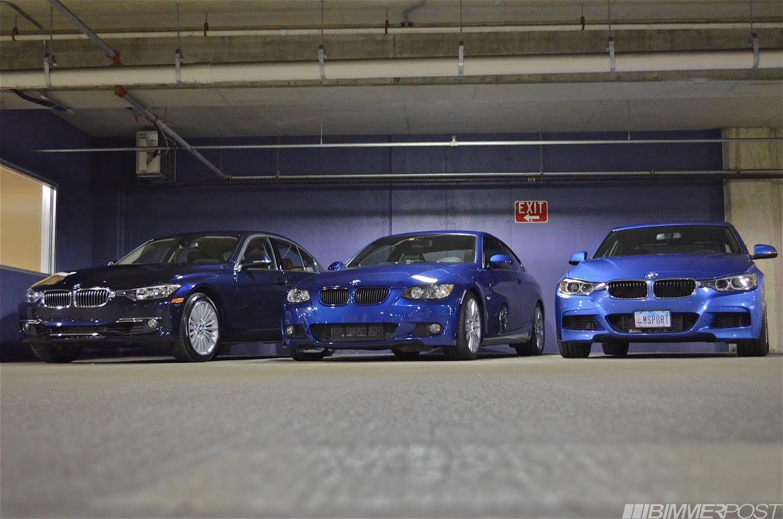 Triple Blue BMW Photoshoot Estoril Blue II vs Imperial Blue vs