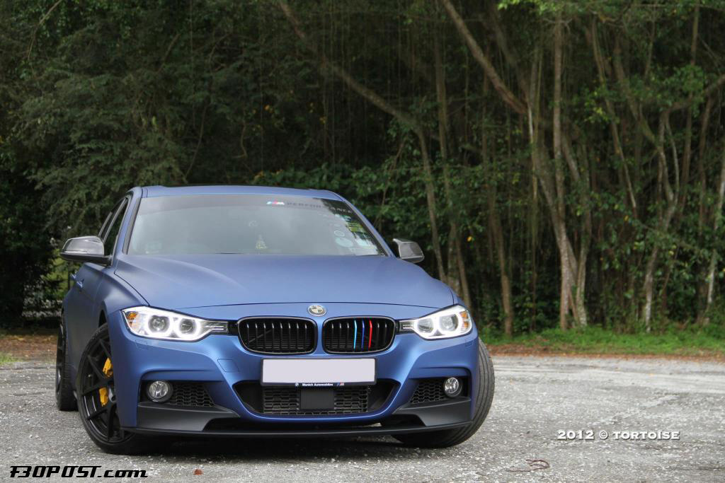 Frozen Blue Painted F30 335i With M Performance And Brembos