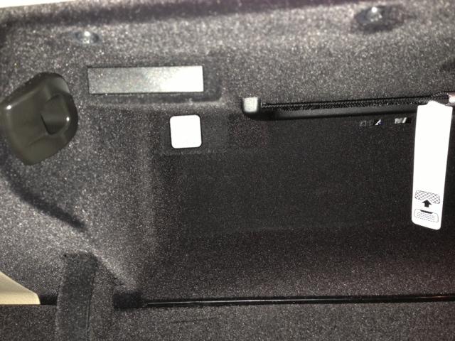 glove box trunk lock button