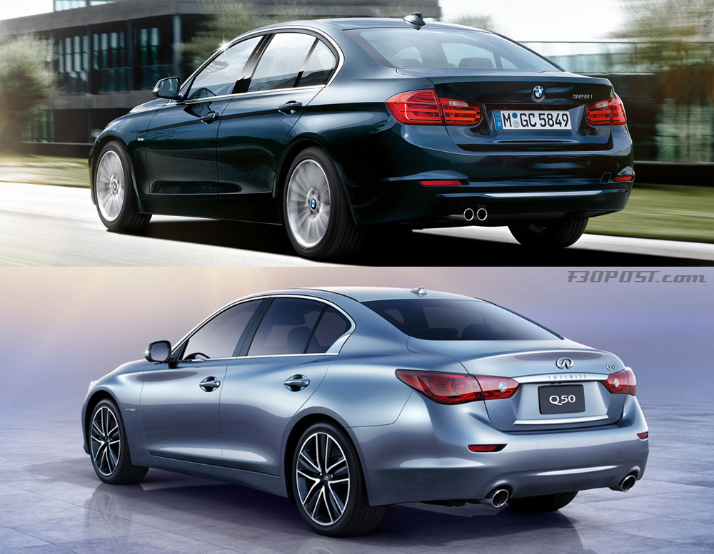 Visual Comparo Of Bmw F30 3 Series Vs Infiniti Q50 Sedan