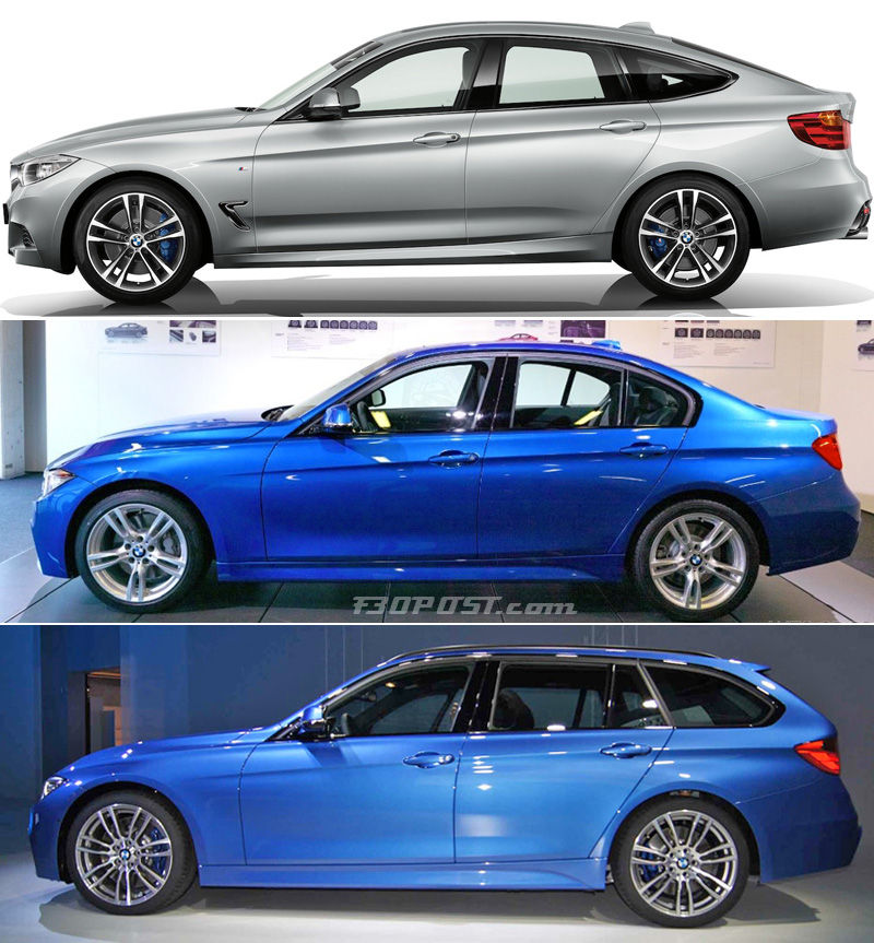Bmw 3 Series Gt Vs Sedan Vs Touring Visual Comparison What S Your