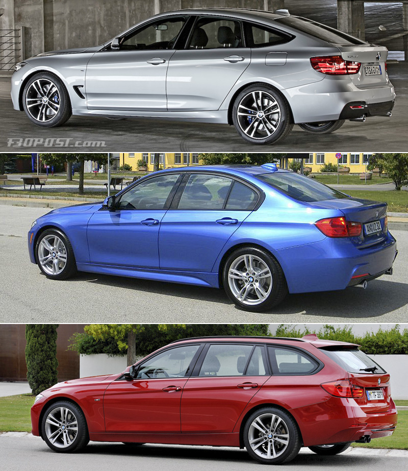 bmw 3 series gt vs sedan vs touring visual comparison. Black Bedroom Furniture Sets. Home Design Ideas