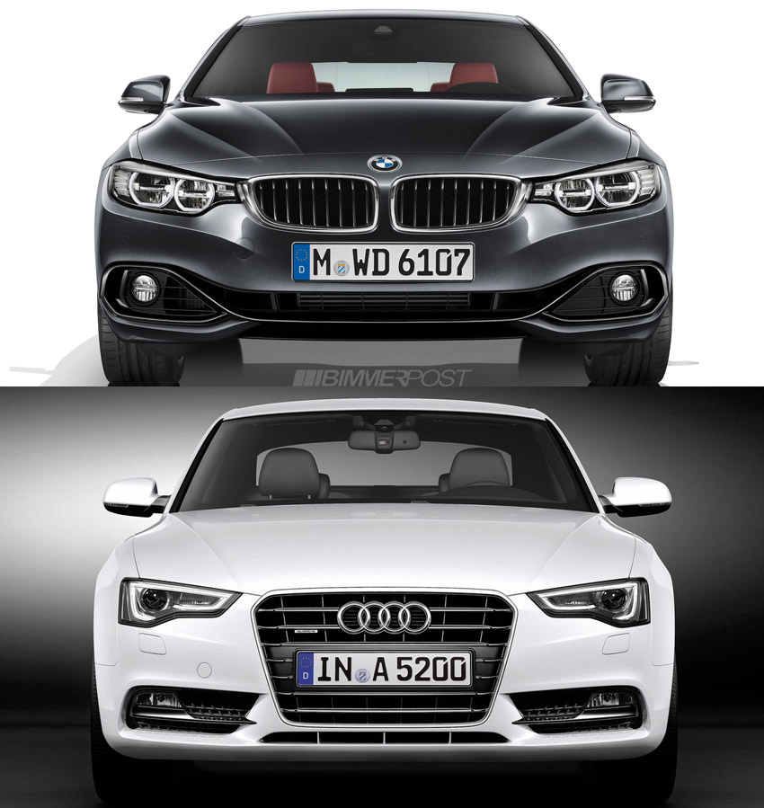 Comparo: BMW 4 Series Coupe versus Audi A5 / S5 - BMW 3-Series and