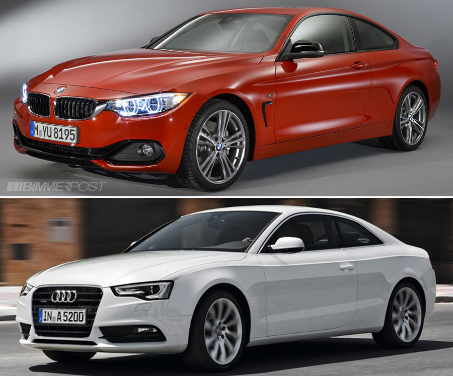 comparo bmw 4 series coupe versus audi a5 s5. Black Bedroom Furniture Sets. Home Design Ideas