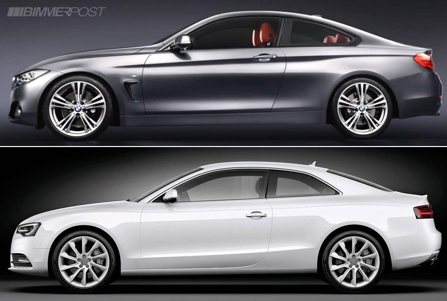 Comparo: BMW 4 Series Coupe versus Audi A5 / S5