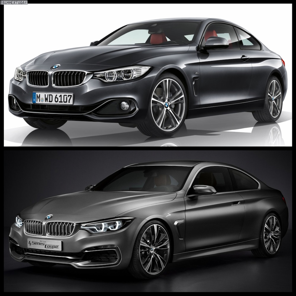 Side By Side 4 Series Concept Vs 4 Series Production