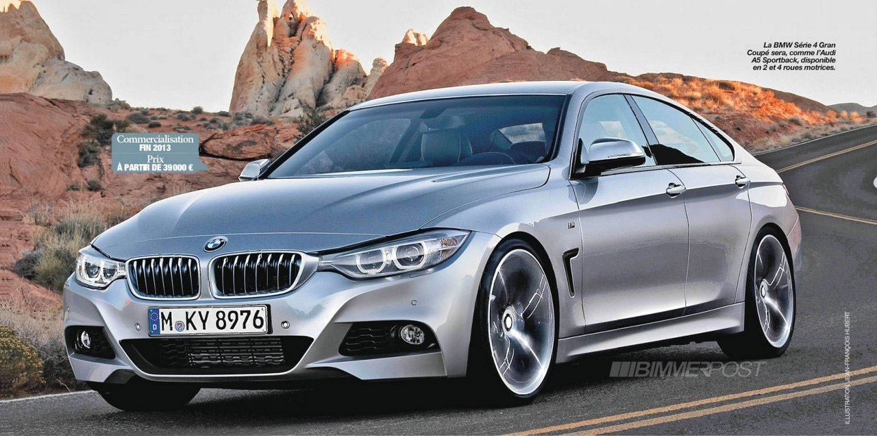 New Bmw 4 Series Gran Coupe Renders