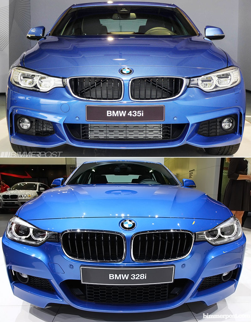 a look at 4 series vs 3 series m sport and m performance parts. Black Bedroom Furniture Sets. Home Design Ideas