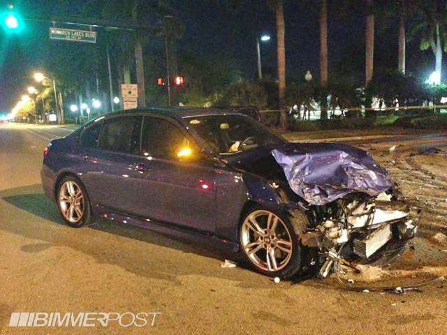Totaled 335i M Sport In Head On Collision Testament To Bmw Safety
