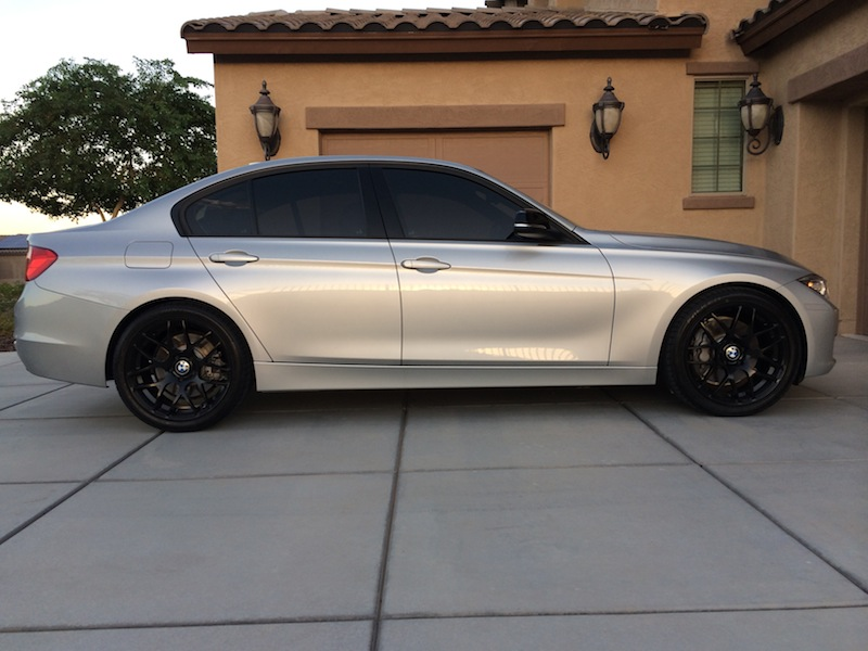 Avant Garde M310 Matte Black On My Glacier Silver 335i