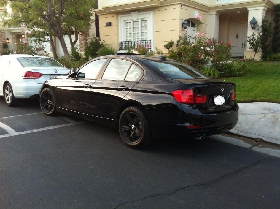 F30 328i All Black Blacked Out Rims Grill Spoiler