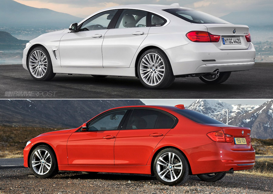 Comparo: BMW 4 Series Gran Coupe Vs 3 Series Sedan (F30
