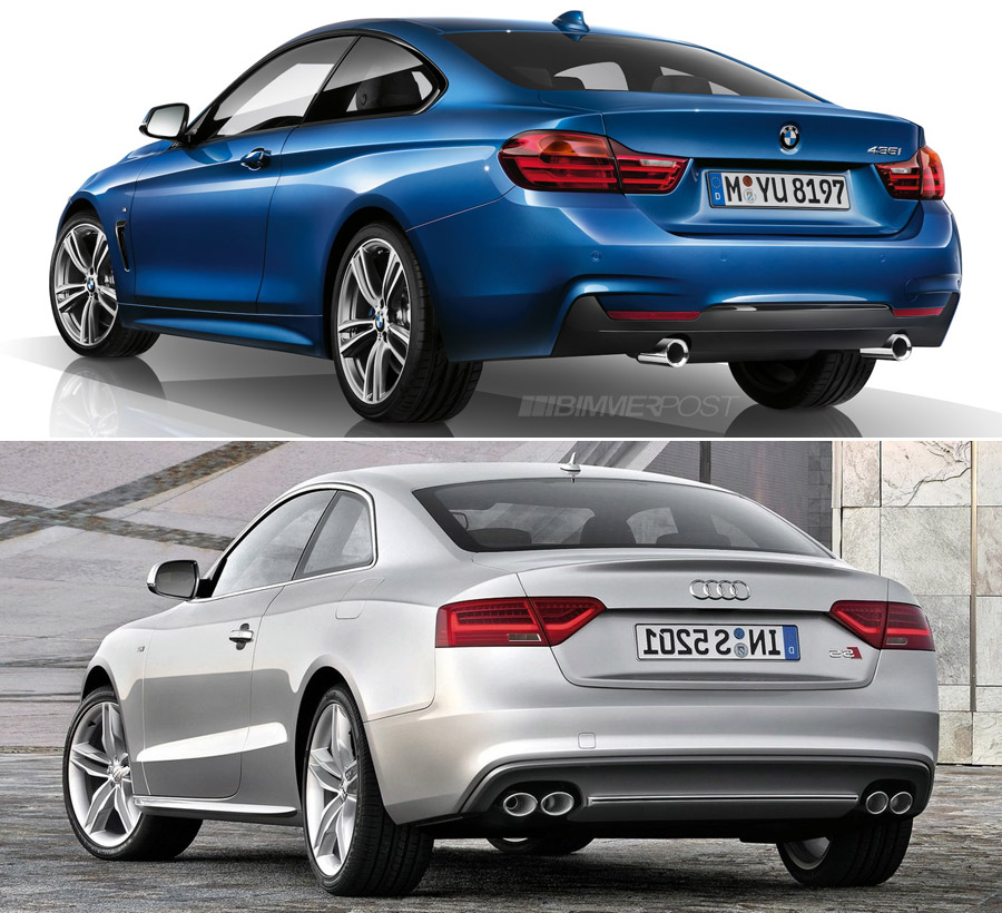 Bmw M4 Series Gran Coupe: Comparo: BMW 4 Series Coupe Versus Audi A5 / S5
