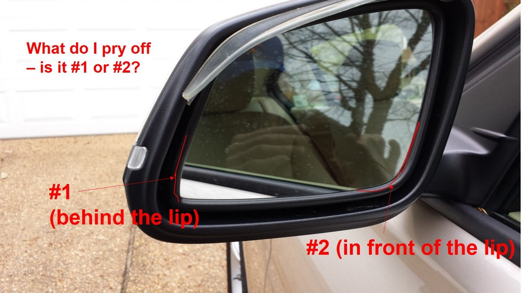 how to check side mirror for lane change
